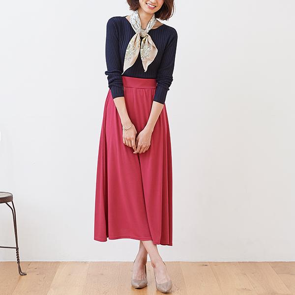 バレンタインコーデピンク系スカート編01