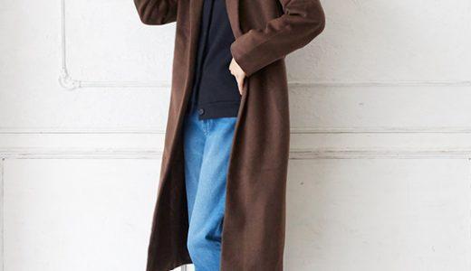 ガウンコートとカットオフデニムでオシャレを更新♪大人のきれいめカジュアルスタイル