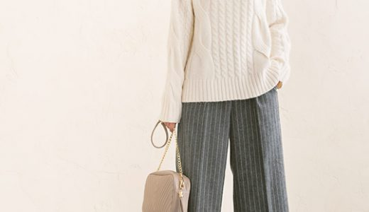 寒い冬こそ暖か&おしゃれを両方叶えるタートルニット×ウール混パンツの出番!