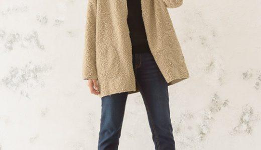 羽織るだけでトレンド!人気ボアコートを大人っぽく着こなす極シンプルな技ありコーデ