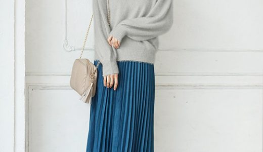 ふわふわフェザーニット&冬色スカートで差がつく大人の冬コーデ