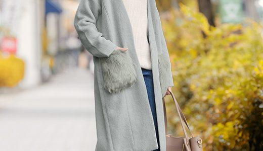 """2018-19冬ファッションのキーワード""""ファー""""付きコートを取り入れた大人カジュアルコーデ"""