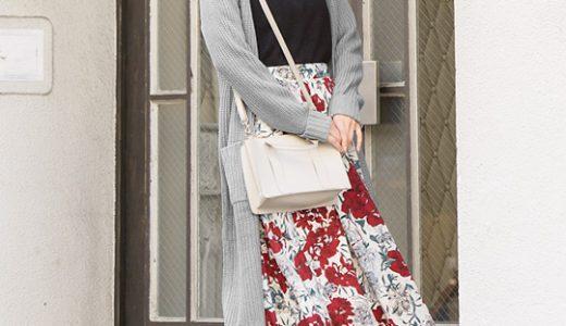 シンプルなのに華やかさ抜群!花柄スカートで簡単スタイルアップコーディネート