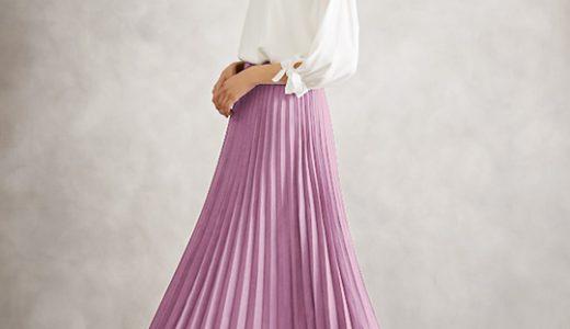 ワンポイントで甘すぎない! プリーツスカートで魅せる春のエレガントコーデ