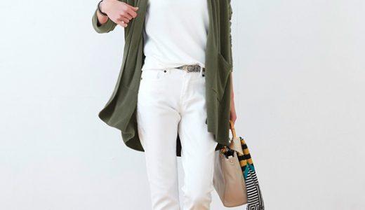 清潔感たっぷり☆上下ホワイトでまとめた春の大人レディスタイル