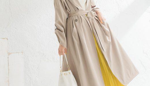 ロングトレンチコートでこなれムード満点のシルエットに♡お出かけにも使えるきれいめスタイル
