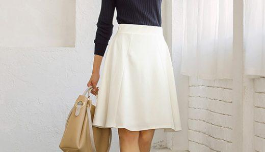 洗練ホワイト&引き締めネイビーの配色でスタイルアップも叶えるバランス美人に♪
