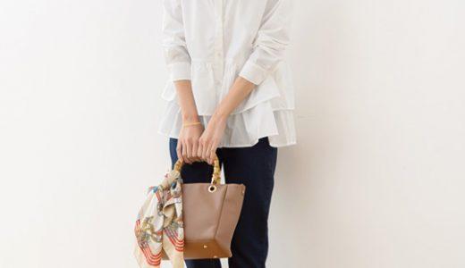 さりげなく個性をアピール♡定番の白シャツもティアードデザインで女性らしさUP!