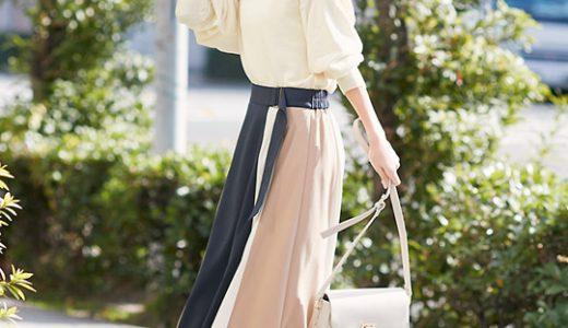 配色スカートがコーデの主役♡ナチュラルトーンでまとめた大人フェミニンコーデ♪