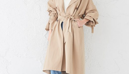 一枚でサマ見えが叶う♪定番のトレンチコートは着こなし次第で旬のスタイルに♡