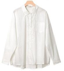 綿100% オーバーサイズシャツ