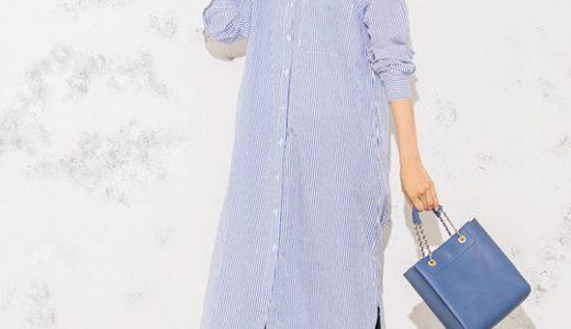 今季トレンドのシャツワンピ×ストライプ柄で叶える最旬スタイルアップコーデ♡