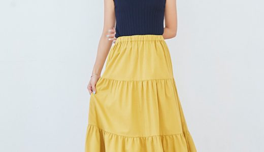 2019年春夏大トレンドデザインのティアードスカートで大人着映えコーデ♡