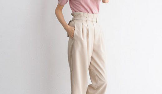 女子力高まるピンクニット×ハイウエストパンツで大人っぽスタイルアップコーデ♡