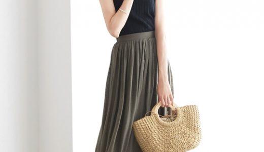 季節感たっぷり☆楊柳素材フレアスカートを使った涼しげな大人リゾートスタイリング