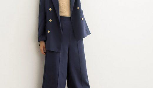 ジャケット×パンツのセットアップがお洒落見えする、程よくモードな大人スタイル