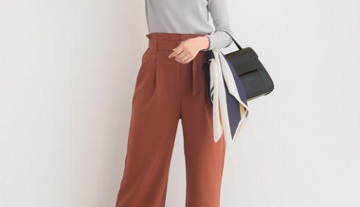 ヒールできちんと感を◎秋冬カラーのキレイめベルト付きパンツコーデ