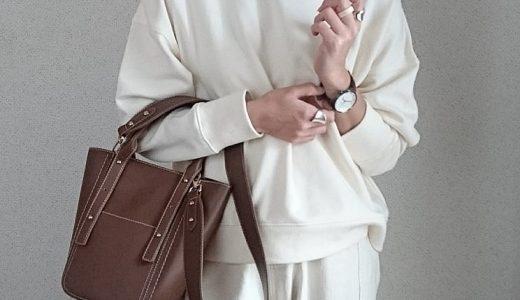きれいめに着られるスウェットでセットアップ風コーデ♡