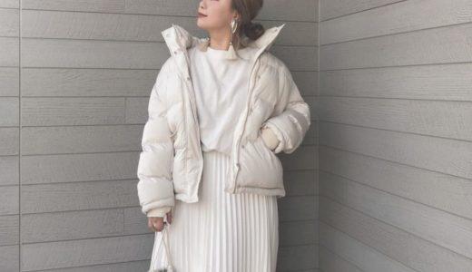 ホワイトのワントーンコーデで洗練カジュアルスタイルに♡
