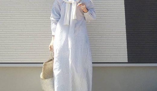 ホワイトデニムはシャツワンピで大人上品に着こなす♪