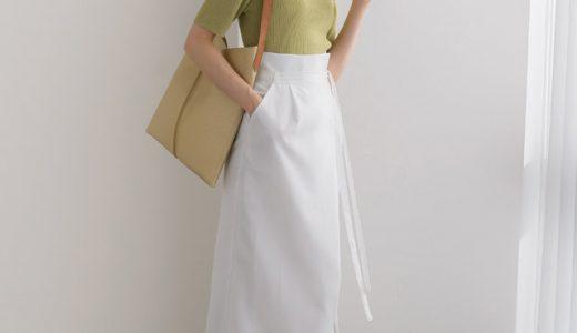 今年らしい「ピスタチオグリーン」×ホワイトのロングスカートで周りと差がつく夏スタイルに
