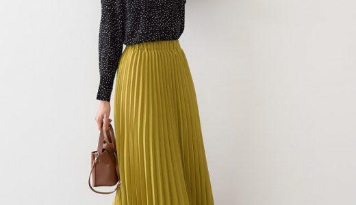 女子会の日は「ドット柄ブラウス×カラープリーツスカート」で一目置かれる存在に♪