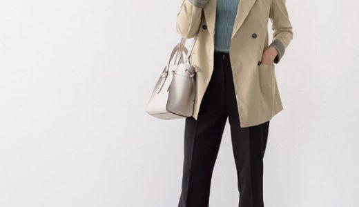 アクセントなブルーニットで好印象なジャケットスタイルを完成させる♪