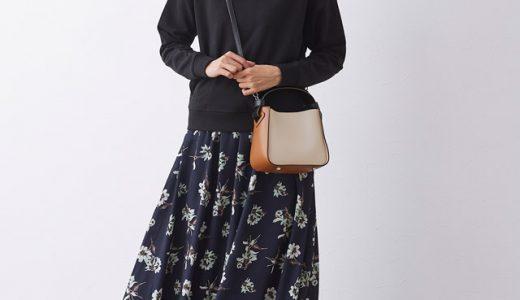 こなれ感抜群◎スウェットパーカー×花柄スカートでつくる甘辛MIXスタイル