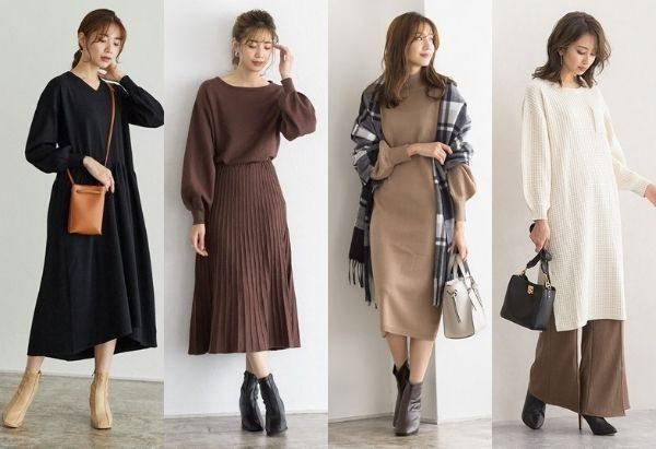 ニット ワンピース コーデ 「ニットワンピース」の人気ファッションコーディネート