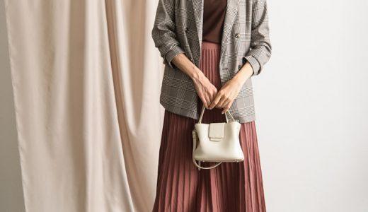 大人レディなプリーツスカートはハンサムジャケットでほどよくカジュアルに♪