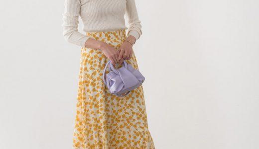 花柄スカートが女性らしさを引き立てる♡ 春感じるワントーンコーディネート