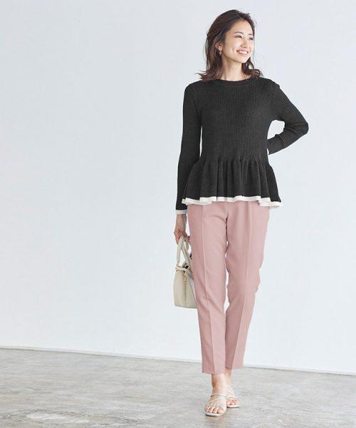 甘めなピンクアイテムはブラックと掛けわせてスタイリッシュに着こなす♪