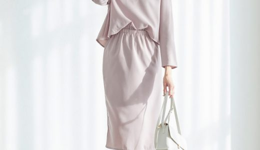 ピンク×ホワイトの愛されカラー。1枚でサマ見え&きちんと感のある優秀ワンピコーデ。