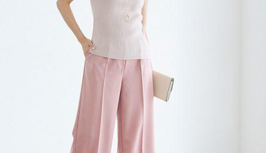 旬ピンクのワントーンコーデで女性らしさをUP♪