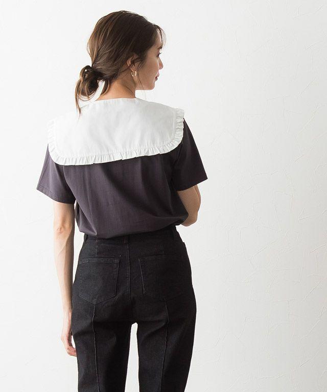 シンプルなロゴTシャツも簡単に旬なスタイリングに◎ ♡