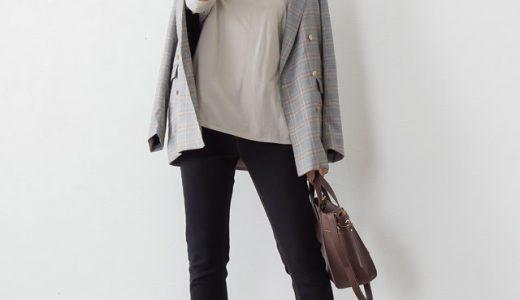 定番スタイルにグレンチェックを織り交ぜた秋のクラシカルコーデ。